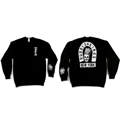 RUBBLE KINGS BLACK SKULL NYC SWEATSHIRT