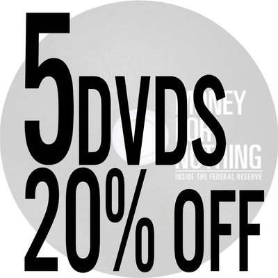 20% off! <span>Package of 5 DVDs</span>