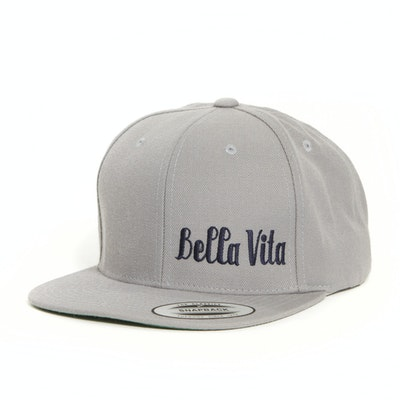 BELLA VITA 6-PANEL SNAPBACK (GREY)