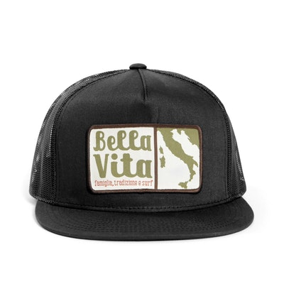 Bella Vita - Patch Hat (Black)