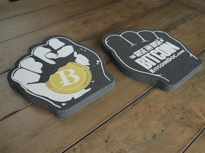 Bitcoin Foam Fist