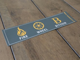 Fire, Wheel, Bitcoin Bumper Sticker