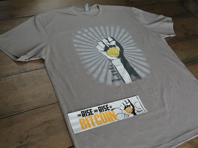 Bitcoin Fan-On-The-Go Bundle C: Vimeo Download, T-Shirt, Bumper Sticker